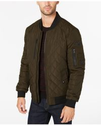 Calvin Klein - Quilted Patch Bomber Jacket - Lyst
