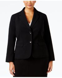 Nine West - Plus Size Crepe Two-button Jacket - Lyst
