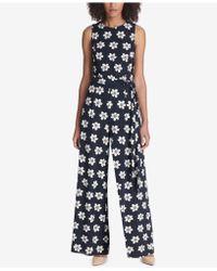 Tommy Hilfiger - Floral-print Belted Jumpsuit - Lyst