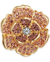 Charter Club - Gold-tone Multi-stone Flower Pin, Created For Macy's - Lyst