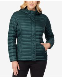 32 Degrees - Plus Size Hooded Puffer Coat - Lyst