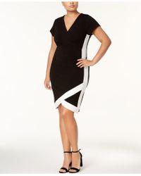 Almost Famous | Trendy Plus Size Faux-wrap Dress | Lyst