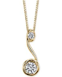 Sirena - ® Diamond Drop Pendant Necklace (1/5 Ct. T.w.) In 14k Gold - Lyst