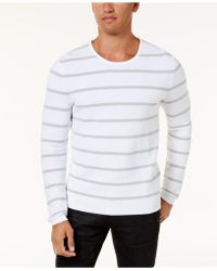 INC International Concepts - Men's Textured Striped Sweater - Lyst