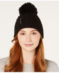 Calvin Klein - Solid Cable-knit Beanie - Lyst