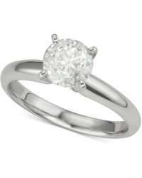 Macy's - Diamond Solitaire Engagement Ring (1-1/4 Ct. T.w.) In 14k White Gold - Lyst