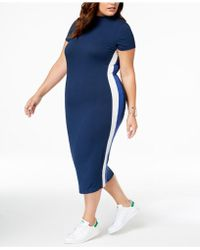 51fdc5184cc Lyst - Soprano Trendy Plus Size One-shoulder Bodycon Dress in Blue