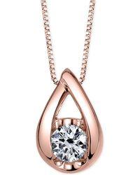 Sirena - Diamond Teardrop Pendant Necklace (1/5 Ct. T.w.) In 14k White Gold - Lyst