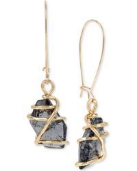 Robert Lee Morris - Caged Crystal Drop Earrings - Lyst