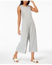 Eileen Fisher - Cotton Cropped Jumpsuit, Regular & Petite - Lyst