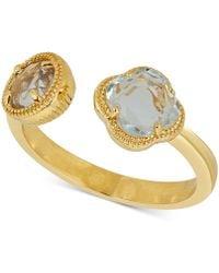 Macy's - Rhodolite Garnet Cuff Ring (1-9/10 Ct. T.w.) In 18k Gold-plated Sterling Silver - Lyst