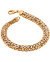 Macy's - Mesh Bracelet In 14k Gold Over Sterling Silver And Sterling Silver - Lyst