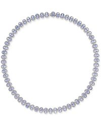 Macy's | Tanzanite Collar Necklace (25 Ct. T.w.) In Sterling Silver | Lyst