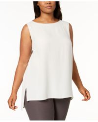 Eileen Fisher - Plus Size System Silk High-low Tunic - Lyst