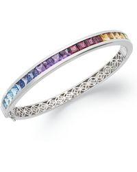 Macy's - Sterling Silver Bracelet, Multistone Rainbow Bangle Bracelet (8 Ct. T.w.) - Lyst