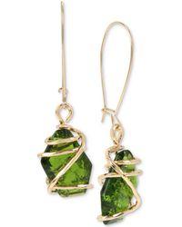 Robert Lee Morris - Caged Crystal Drop Earrings - Lyst