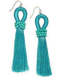 INC International Concepts - I.n.c. Gold-tone Colored Bead & Thread Tassel Drop Earrings, Created For Macy's - Lyst