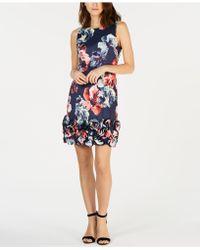 Donna Ricco - Floral-print Cupcake Dress - Lyst
