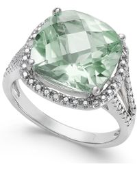Macy's - Gemstone (6 Ct. T.w.) And Diamond Accent Ring In Sterling Silver - Lyst