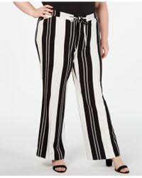 INC International Concepts - I.n.c. Plus Size Nolita-stripe Wide-leg Pants, Created For Macy's - Lyst