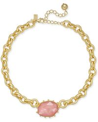 """Kate Spade - Gold-tone Stone Chunky Link Collar Necklace, 15"""" + 3"""" Extender - Lyst"""