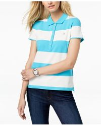 065cf6abcd60a Lyst - Tommy Hilfiger Plus Size Cotton Striped Boat-neck Top in Blue