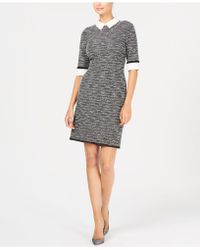 Ivanka Trump - Embellished-collar Knit Sheath Dress - Lyst