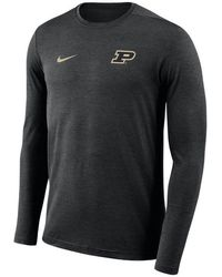 39af15675a16 Lyst - Nike Men s Purdue Boilermakers Stadium Performance Polo in ...