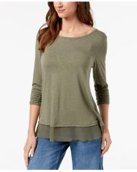 Style & Co. - Chiffon-hem Top, Only At Macy's - Lyst