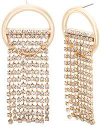 Steve Madden - Chain Ring Post Earring - Lyst