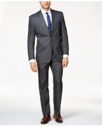 Marc New York - Men's Classic-fit Medium Gray Windowpane Suit - Lyst