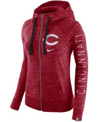 c6a97e0e2ef8 Lyst - Nike Women s Cincinnati Reds Gym Vintage Full-zip Hoodie in Gray