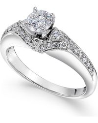 Macy's - Diamond Engagement Ring (3/4 Ct. T.w.) In 14k White Gold - Lyst