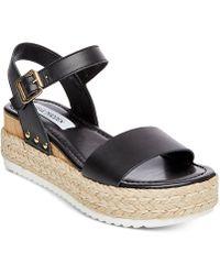 a4b122d8121 Steve Madden - Chiara Flatform Espadrille Sandals - Lyst