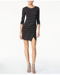 Kensie - Striped Envelope-hem Dress - Lyst