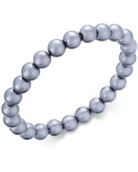Charter Club - Silver-tone Gray Imitation Pearl Stretch Bracelet - Lyst