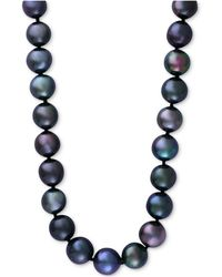 Effy Collection - Cultured Tahitian Pearl (13mm) Collar Necklace - Lyst