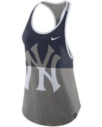 7c2b4d69970caa Lyst - Nike Womens New York Yankees Drifit Racerback Tank Top in Blue