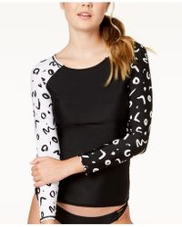 Volcom - Tag Ur It Printed Long-sleeve Rash Guard - Lyst