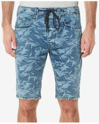Buffalo David Bitton - Leaf-print Parker-x Denim Shorts - Lyst