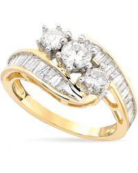Macy's - Diamond Bypass Ring In 14k Gold (1-1/2 Ct. T.w.) - Lyst