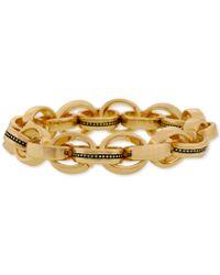 Laundry by Shelli Segal - Gold-tone Multi-ring Link Stretch Bracelet - Lyst
