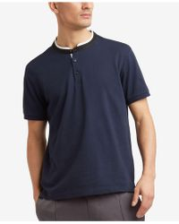 Kenneth Cole Reaction | Knit Band-collar T-shirt | Lyst