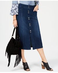 Style & Co. - Button-front Straight Jeans Skirt, Created For Macy's - Lyst