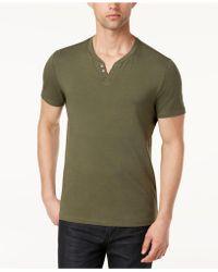 Alfani - Split-neck Cotton T-shirt, Created For Macy's - Lyst