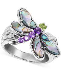Carolyn Pollack - Multi-gemstone Dragonfly Ring (2-1/5 Ct. T.w.) In Sterling Silver - Lyst