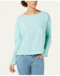 Eileen Fisher - Boat-neck Boxy Knit Top, Regular & Petite, Created For Macy's - Lyst
