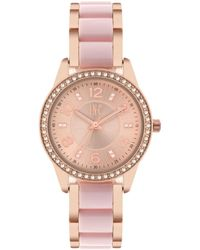 INC International Concepts - Rose Gold-tone & White Or Pink Acrylic Bracelet Watch 34mm, Created For Macy's - Lyst
