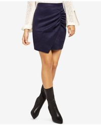 BCBGeneration - Ruched Envelope-hem Mini Skirt - Lyst