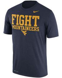 Nike - West Virginia Mountaineers Legend Verbiage T-shirt - Lyst